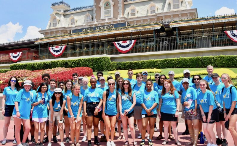 Students at the BOLT @Disney leadership program